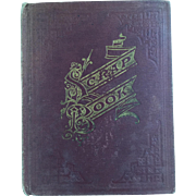 Antique c.1876 Victorian Scrap Book with Amazing Contents...Loads of Animals and Children