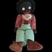 Amazing English Cloth Golliwog or Golliwogg Doll Hand Made OOAK circa 1930's...Fabulous!