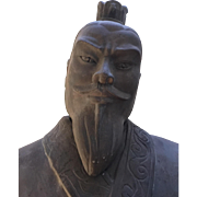 """Life-size 80"""" Terracotta Statue of Emperor Qui Shi Huang of China-Local Pick Up Only!"""