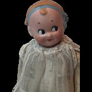 Antique 1920's German Bisque Googly Doll by Goebel All Original