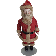 German Antique All Bisque Jointed Santa Doll