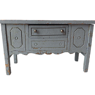 1920's All original Painted Wood Doll House Miniature Sideboard....Charming!