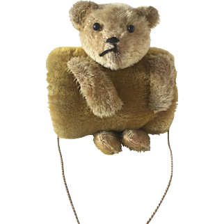 C.1900 Antique German Mohair Teddy Bear Child's Muff