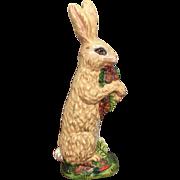 Collectible Vaillancourt Solid Chalkware Bunny Rabbit c. 1993