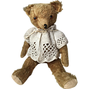 Wonderful 1930's=40's Vintage Mohair teddy Bear...Very Expressive!