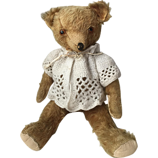 Wonderful 1930's=40's Vintage Mohair teddy Bear...Very Expressive!