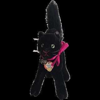 Gorgeous Steiff Halloween Black Cat c.1950's All ID's