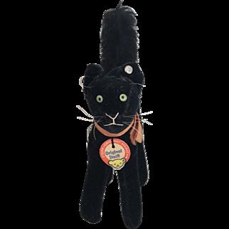 1950's All Original Velveteen Steiff Black Cat