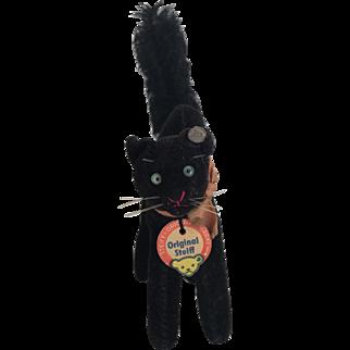 Small Velveteen 1950's Steiff Black Halloween Cat All ID's
