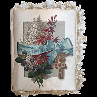 c.1884 Victorian Silk Covered Christmas Hymn Book