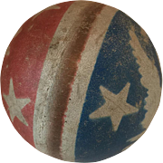 1940's Patriotic Red White Blue Eagle Toy Rubber Ball