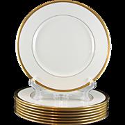 8 Lenox Tuxedo Dinner Plates