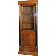 Custom Built 1930s Biedermeier Mahogany Single Doors Curio Display Cabinet