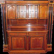Fantastic Early 20th Century High Quality Massive Biedermeier Style Mahogany Wall Cabinet Bar c1930s