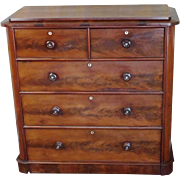Excellent Antique European Empire Biedermeier Mahogany Chest Of Drawers c1820