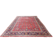 """Early 20th Century Palatial Size Sarouk Carpet 12' X 18'-8"""" ~ Excellent Condition"""