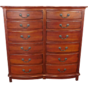 Fine Milling Road For Baker Furniture Large Double Wide 12 Drawer Cherry Chest