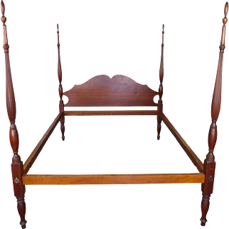 Hand Made Eldred Wheeler Solid Cherry American Colonial Queen Size 4-Poster Canopy Bed