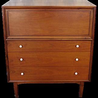 1950s Drexel Declarations Kipp Stewart Drop Front Bedroom Chest Of Drawers
