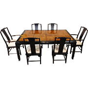 1980s Century Furniture Raymond K Sobota ~ Chin Hua Collection Asian Style Dining Room Table & 6 Chairs