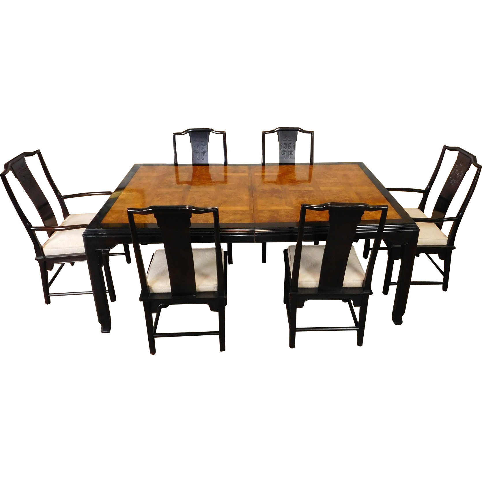 1980s Century Furniture Raymond K Sobota ~ Chin Hua Collection Asian Style  Dining Room Table U0026 6 Chairs