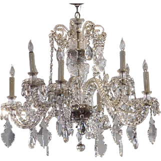 Fine Martinez Y Orts Of Spain 1984 Queen Elizabeth Crystal 8 Light Chandelier