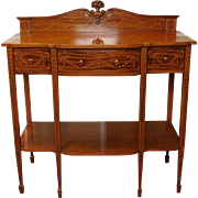 Antique Line Inlaid & Bell-flower Mahogany Federal Style Dining Room Server c1890