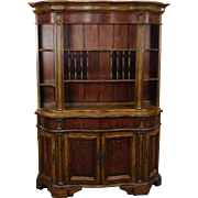 Very Nice Hardwood Factory Painted Dining Room China Cabinet c1990