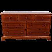 Lane Adaptation Furniture Museum Of Folk Art ~ America Collection Pine 7 Drawer Bedroom Dresser 1980s