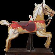 Carved & Painted Carousal Horse Wood Sculpture by Cees (Cornelis) Brokke (Dutch American 1920-2016) c1970