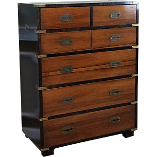 Vintage 1970s John Stuart Rosewood Campaign Style Chest Of Drawers