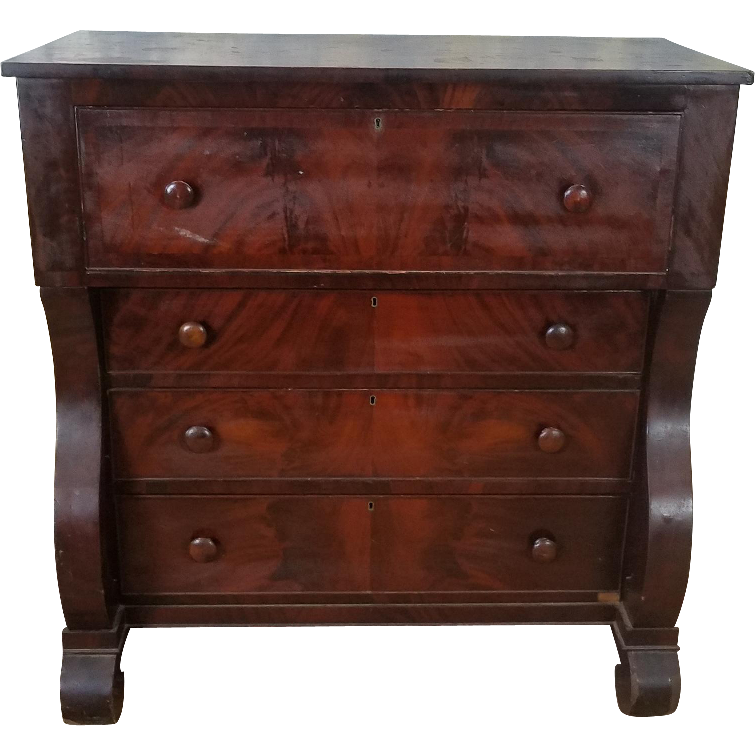 antique american empire period mahogany butlers chest of. Black Bedroom Furniture Sets. Home Design Ideas