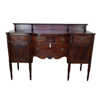 Potthast Bros Quality Antique American Mahogany Sheraton Style Dining Room Sideboard c1910