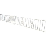 Vintage 1950s 2 Piece Painted White Wrought Iron Handrail Gate ~ Railing 16'