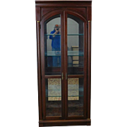 Ethan Allen Medallion Collection Cherry & Glass Curio Display Cabinet #25-9418