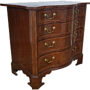Baker Furniture Stately Homes English George III Mahogany 4 Drawer Serpentine Chest No 5300