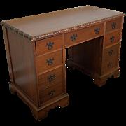 Very Simple Mahogany Kneehole Desk 1960s