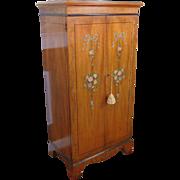 1980s Drexel Heritage Mahogany Devoncourt Adams Style Jewelry Chest Cabinet