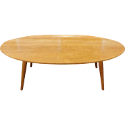 Mid Century Modern Russel Wright For Conant Ball Maple Surfboard Coffee Table 1950s