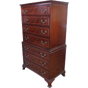 1950s Rway Furniture Mahogany Tall Gentleman's Chest Of Drawers