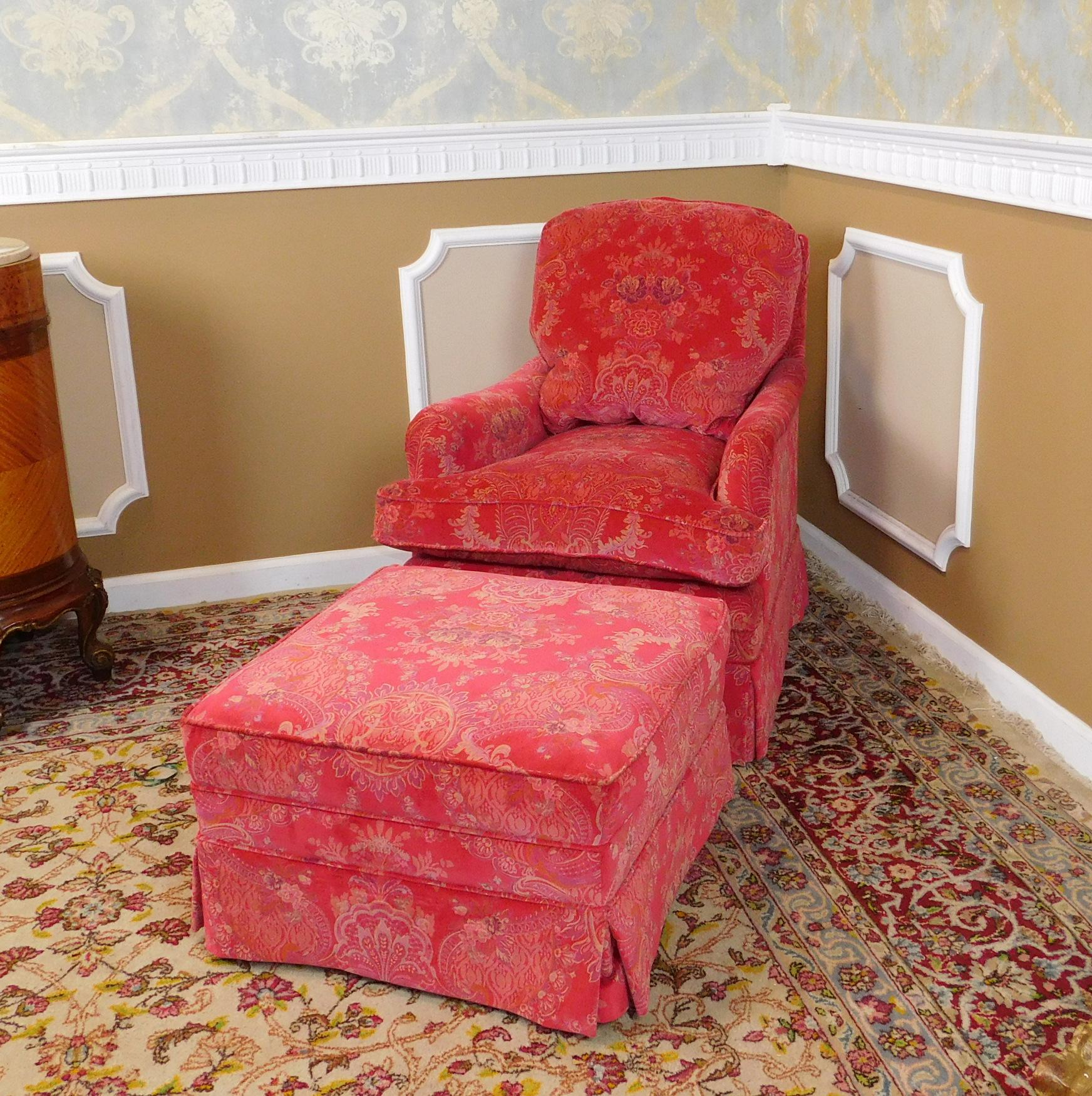 fantastic recently upholstered pink patterned silk down mix