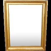 Fantastic Regency Style Gilded Frame Rectangular Hanging Wall Mirror 38 X 47 c1950s