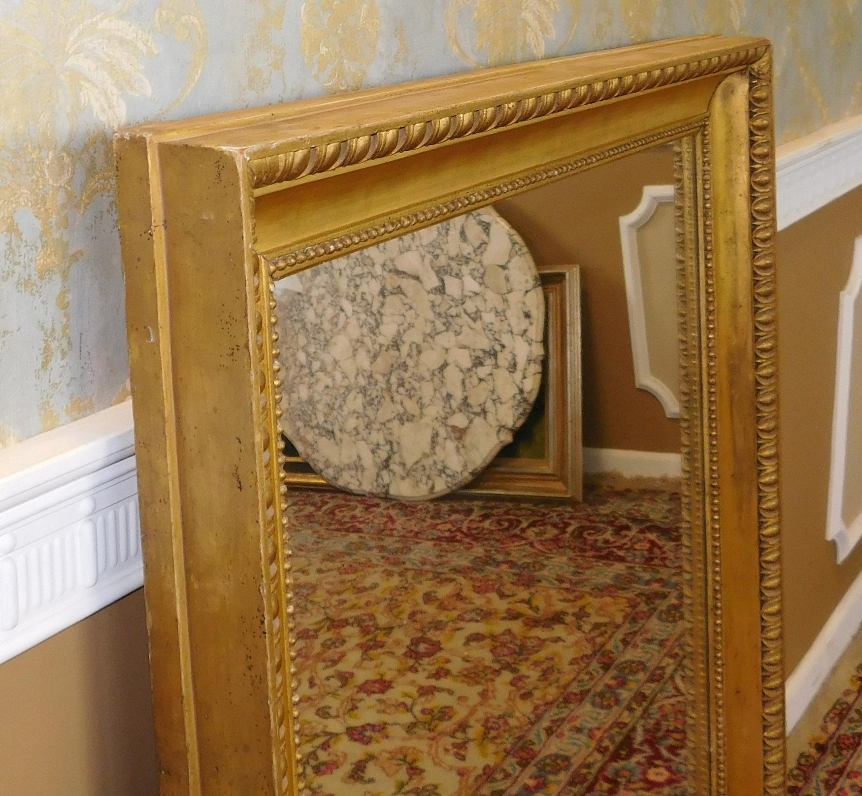 Fantastic regency style gilded frame rectangular hanging for Mirror frame styles