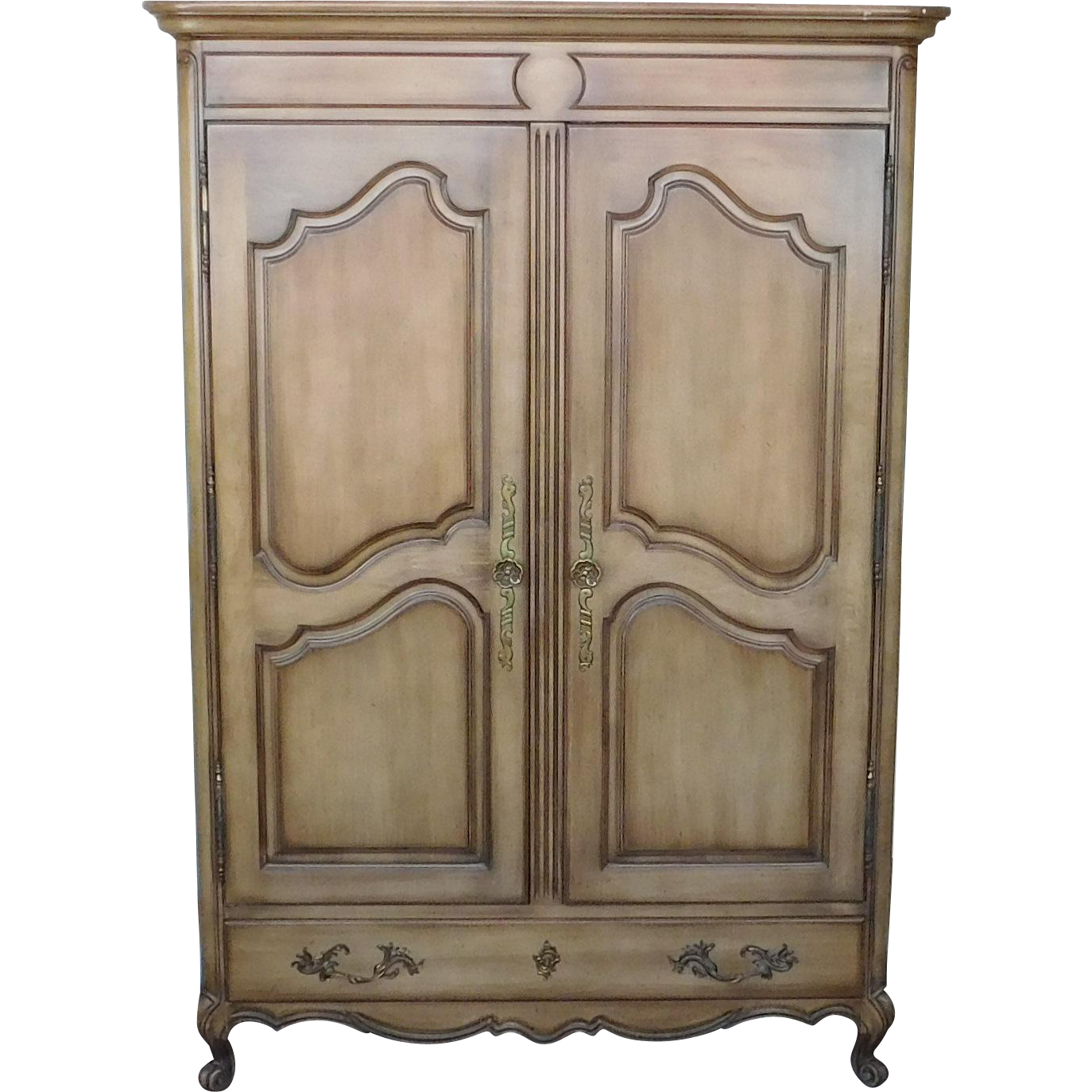 nice union national furniture co fruitwood bedroom armoire c1960s - Fruitwood Bedroom Furniture