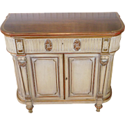 Vintage 1930s French Washed Painted Classical Walnut Dining Room Server ~ Linen Chest