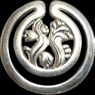 Antique Georg Jensen Sterling Silver Bookmark,Signed