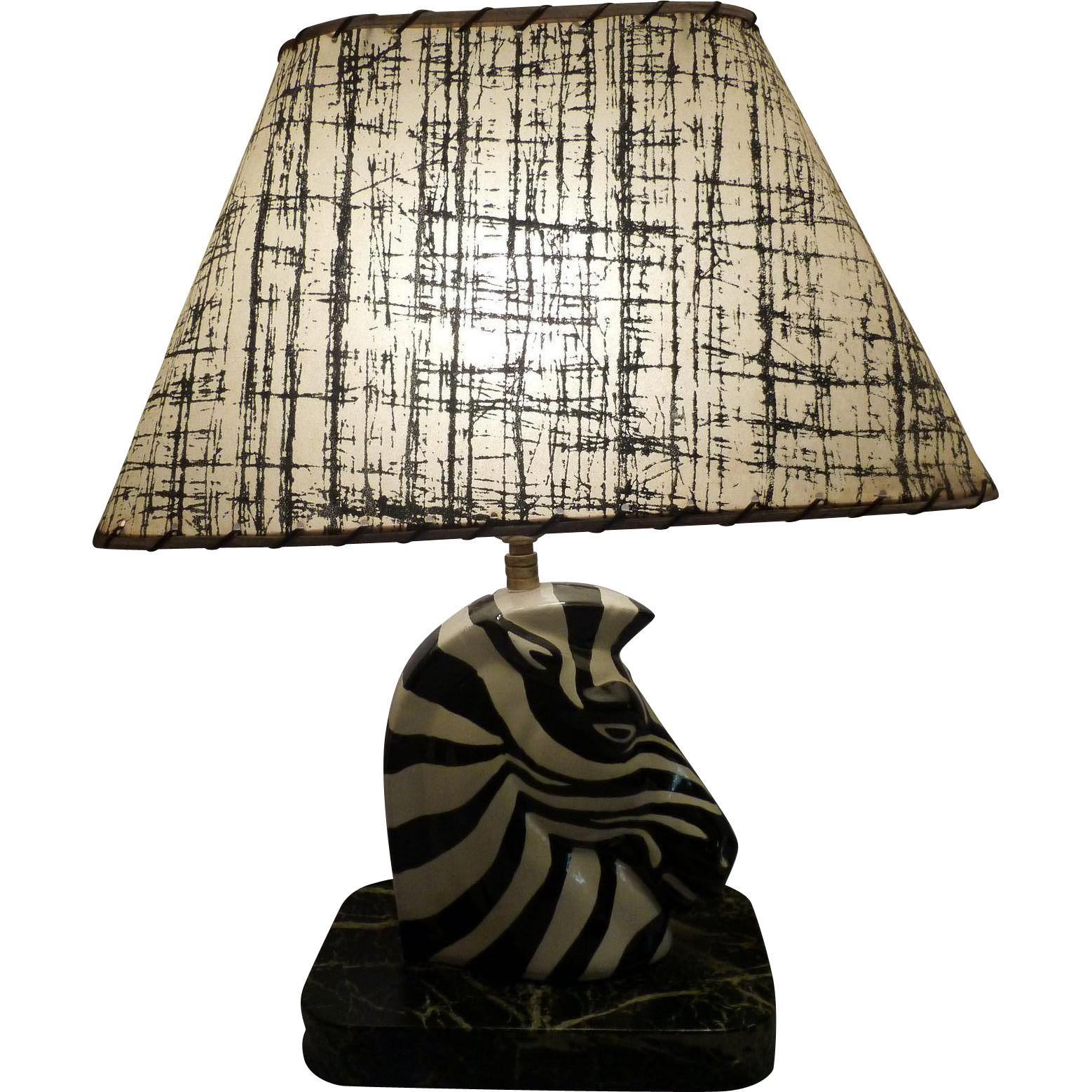 Mid Century Porcelain Zebra Table Lamp Circa 1950's-60's from mm ...