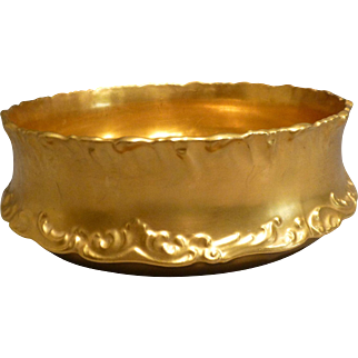 Antique Healey Gold Limoges Center Bowl circa 1893 Rare
