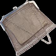 Silver Mesh Antique Handbag with Fringe