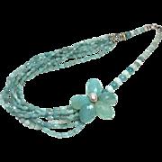 Amazonite Multistrand Asymmetric Necklace